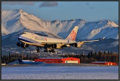 B-18719 China Airlines Cargo (Bob Garrard) Tags: china airlines cargo boeing 747 sunset anc panc b18719