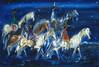 """Navajo Night Chant"" (DeGrazia Gallery in the Sun) Tags: teddegrazia degrazia ettore ted artist galleryinthesun artgallery gallery nationalhistoricdistrict foundation nonprofit adobe architecture tucson arizona az santacatalinas desert oil painting navajotribe navajo horses"