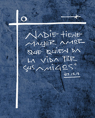 Religious Christian phrase in spanish illustration (iknuitsin) Tags: handdrawn illustration drawing ink sketch image religious religion catholic christian spiritual divine holy sacred vector phrase text god jesus christ bible cross symbol saintjohn friendship concept art life