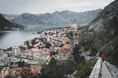 Kotor, Montenegro (Sunny Herzinger) Tags: church fujixpro2 kotor travel balkan city montenegro europe mountains opštinakotor me