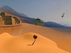 Loneliness (Biskveet) Tags: overwatch tree desert temple anubis palm sand