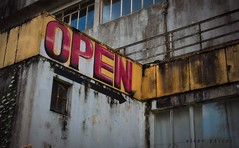 OPEN (Elton Pelser) Tags: abandoned decay urbandecay nikon d3400 outdoor photography building open sign