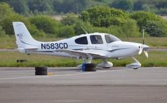 N583CD (goweravig) Tags: n583cd visiting aircraft swansea wales uk cirrus sr22 gts swanseaairport
