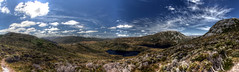 Wombat Pool (pbr42) Tags: australia tasmania nationalpark cradlemountain cradlemountainnationalpark outdoor sky hdr panorama water h2o lake landscape nature