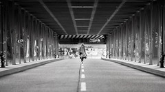 Walk the line (frank_w_aus_l) Tags: hamburg bridge street line symmetry architecture nikkor 10514 nikon d810 monochrome sw bw noiretblanc netb germany city lines forms aperture anna walk deutschland de