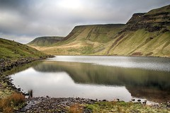 (OutdoorMonkey) Tags: lake water llyn llynyfanfach blackmountain breconbeacons nationalpark wales welsh countryside hill mountain hillside mountainside calm still shore outside outdoor