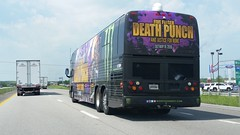 Fiver Finger Death Punch and Justice For None Tour Bus (Adventurer Dustin Holmes) Tags: 1801 agx americangloballogistics trailer a392ba tennesseea392ba tourbus vehicle i44 interstate44 music band justicefornone fivefingerdeathpunch monsterenergy may182018 2018