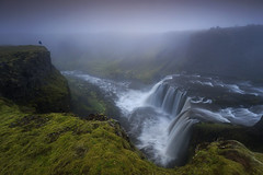 Highlands, Iceland (sven483) Tags: highlands iceland waterfall fog sven broeckx fall water river landscape