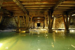 Beneath Roman amphitheater