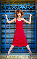Blue and Red (oshcan) Tags: dancer model woman beauty portrait nikon d4s 85mm14