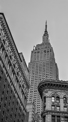 The Empire State (mattb105) Tags: new york city nyc urban architecture building black white cityscape