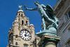 Liverpool (that Geoff...) Tags: liverpool mersey merseyside clock liver canon g7x powershot liverbirds bird propatria statue