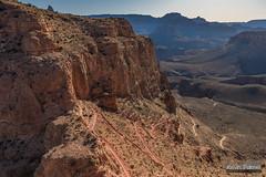 South Kaibab Switchbacks (kevin-palmer) Tags: switchbacks grandcanyon grandcanyonnationalpark nationalpark arizona april spring early morning clear sunny blue sky southrim southkaibabtrail nikond750 tamron2470mmf28 cedarridge path skeletonpoint