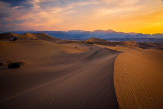 Mesquite Flat Sand Dunes Sunrise Gathering Clouds Thunderstorm! Death Valley National Park Fine Art Landscape  Photography! High Resolution California Desert Landscape Photos! Dr. Elliot McGucken High Res American West Landscape & Nature Fine Art
