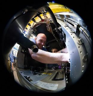 ESA astronaut Alexander Gerst during training