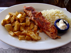 Chicken Roulade (knightbefore_99) Tags: food lunch work tasty burnaby best awesome chicken roulade bacon stuffed potatoes coleslaw serbian yugoslav royaloak tenen balkan
