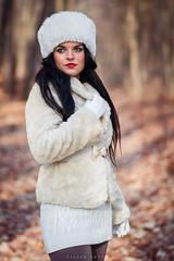 Heni (Piller György) Tags: b brown beauty bokeh outdoor portrait portré woman moody woods cold winter white girl
