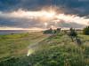 Gaasterland cliffs (Bart K C Meijer) Tags: gaasterland friesland sunset goldenlight landscape landschap rays lake coast