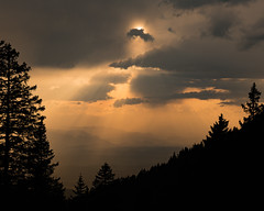 View from Krvavec (happy.apple) Tags: ambrožpodkrvavcem kranj slovenia si clouds storm sun forest landscape evening