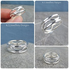 Dappled Waves Sterling Silver Ring (KSJewelleryDesigns) Tags: metalwork ring jewellery jewelry handmade brightsilver shine sterlingsilver silverjewellery handcrafted silver silverwire metal hammered shiny polished bright soldered soldering brushed sawing piercing silversmith silversmithing texture waves wire dappled