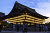 Yasaka Shrine after sunset (mutovkin) Tags: architecture dusk g9 hdr hdrexpose3 japan kyoto lumix lumixg9 panasonic panasonicg9 shrine sunset travel lanterns roof spring