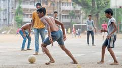 Mumbai-fb-12.jpg (Karl Becker Photography) Tags: india mumbai nikon football boy youngman shirtless sport