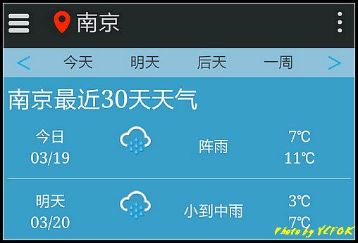 南京 2018-03-19 天氣(明天去南京)