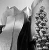 Let them shine (Gabo Barreto) Tags: bilbao paisvasco basquecountry spain españa museum guggenheim art sculpture shine metal metallic reflection building architecture design film 120 trix xtol analoguephotography filmisnotdead ishootfilm selfdeveloped scannedfromfilm blackandwhite monochrome balls