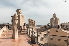 Barcellona, Casa Milà (Pedrera) (87_Stefano_87) Tags: spagna espana spain barcelona barcellona gaudi casa mila pedrera