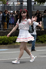 Cute girl(可愛い女性) (daigo harada(原田 大吾)) Tags: yokohama fancy dress parade people dance fashion costume