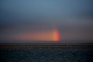 Prismatic brilliance opposite the sunset