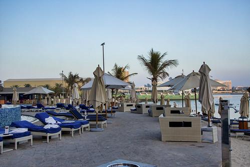 Beach area at Jumeirah Hotel, Abu Dhabi