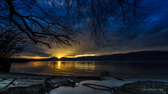 Sunset on the lake of Neuchâtel (Switzerland) (christian.rey) Tags: cheyres fribourg suisse ch sunset coucherdesoleil coucher soleil broye sony alpha a7r2 a7rii 1635 paysage lake neuchâtel lac see swiss neuenburgersee