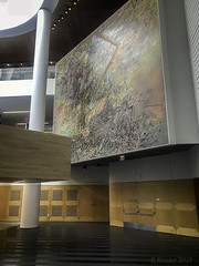 SFMOMA: Diptych in The Atrium (Greatest Paka Photography) Tags: sfmoma staircase diptych juliemehretu art artist lobby atrium ethiopian canvas modernart contemporary mariobotta snohetta sanfrancisco howl