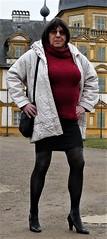 180220_10 (mathildecross) Tags: crossdress crossdressing crossdresser cd park pantyhose pumps outdoor transvestit