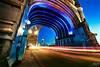 Faster Than Light (rez842701) Tags: towerbridge london londonatnight england uk bridge river arches steel lights stone thames longexposure wideangle colours bluehour bluesky night exposureblending