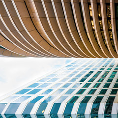 Creased and Folded (DobingDesign) Tags: architecture lines stripes horizontal vertical curves offices officebuildings corporaterealestate london modernarchitecture londonarchitecture windows light shadow