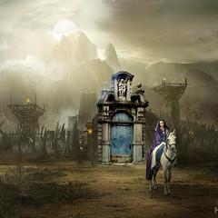 Leaving (jaci XIII) Tags: partindo partida pessoa mulher animal ruína cavalo amazonas leaving departure woman person ruin amazon horse