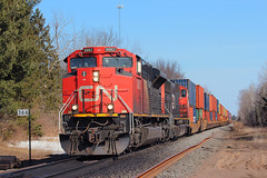 Superior Sub Stacks (view2share) Tags: cn canadiannational spring springtime superiorsub northwoods northernwisconsin northwood murry deansauvola wisconsin wi april222018 april2018 april 2018 stacks stacktrain doublestack cn8862 southbound eastbound emd electromotivedivision engine tower radiotower grease greaser milepost mp366 mainline maintenance maintenanceofway trackmaintenance trains track transportation train tracks transport trackage trees freight freighttrain freightcar freightcars railway railroading rr railroads railroad rails railroaders rail rring roadtrip