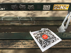 Bench: Ron's Crew | Sonic (david ross smith) Tags: paris france graffiti art ad poster sign signage 11tharr 11tharrondissement text