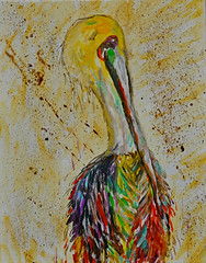 Mom's Pelican (BKHagar *Kim*) Tags: bkhagar pelican painting paint acrylic canvas bird neworleans art artwork artday moms