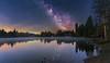 Milchstraße am Oderteich (19MilkyWay89) Tags: harz oderteich oderbrück milchstrase germany milky way stars night lake forest trees nightsky sky