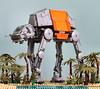 Lego Star Wars Rogue One MOC AT-ACT Battle of Scarif (graeme.watson) Tags: lego star wars rogue one moc baze malbus vs atact battle scarif