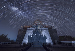 Milkyway and Startrail @ 500 Lohan Temple (My Pixel Magic) Tags: milkyway astrophotography indonesia 500lohantemple composite landscape nightphotography nightscape nightview nightsky longexposure