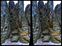 Tisa Walls 3-D / CrossView / Stereoscopy / HDRaw (Stereotron) Tags: sandstein sandstone mountains nationalpark böhmische schweiz bohemian felsen rocks geology geologie europe tschechien crosseye crossview xview pair freeview sidebyside sbs kreuzblick 3d 3dphoto 3dstereo 3rddimension spatial stereo stereo3d stereophoto stereophotography stereoscopic stereoscopy stereotron threedimensional stereoview stereophotomaker stereophotograph 3dpicture 3dimage hyperstereo canon eos 550d chacha singlelens kitlens 1855mm tonemapping hdr hdri raw