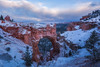 NATURAL BRIDGE (pidalaphoto) Tags: brycecanyonnationalpark utah canyons southwest rugged clearingstom brycecanyon sunset naturalbridge snowdusting snow nationalpark clouds