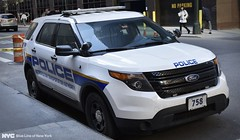 Metropolitan Transportation Authority (MTA) Police Department FPIU (nyfrp) Tags: new york state police nypd nysp ford interceptor utility lightbar car sedan grand central parked city nyc manhattan midtown newyorkcity port authority caprice chevy tahoe ppv blue line ny times square explorer