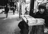 DSCF5825 (G. L. Brown) Tags: 2018 5x7 chewinggum chinatown manselling newyork sidewalk stand streetphotography blackandwhite