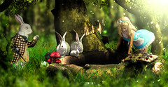 Rabbit hole (meriluu17) Tags: enchantment rabbit hole fantasy wonderland curious cute alice tale fairytale surreal sweet green animal pet people portrait