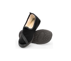 All Day Slippers black (firstSTREETonline) Tags: firststreet aging seniors olderadult boomers caretakers shoe slipper womans women soft indoor outdoor cushioned cushion